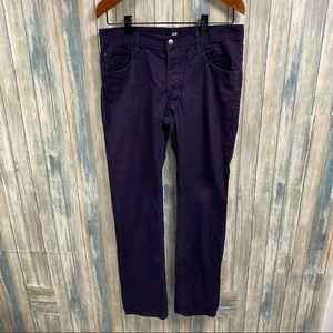 H&M Men's Button Fly Jeans sz 34 Purple  # S210